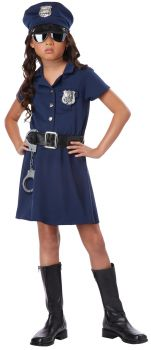 Girl's Police Officer Costume - Child XL (12 - 14)