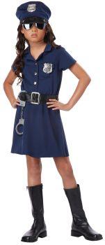 Girl's Police Officer Costume - Child XL (12 - 14)