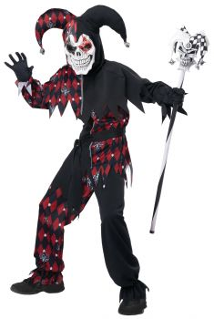 Boy's Sinister Jester Costume - Child M (8 - 10)