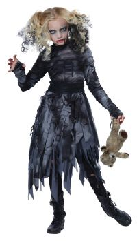 Girl's Zombie Costume - Child L (10 - 12)