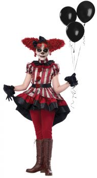 Girl's Wicked Klown Costume - Child M (8 - 10)