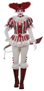 Women's Sadistic Clown Costume - Adult S (6 - 8)
