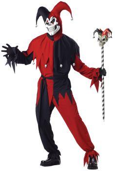 Men's Evil Jester Costume - Adult S (38 - 40)