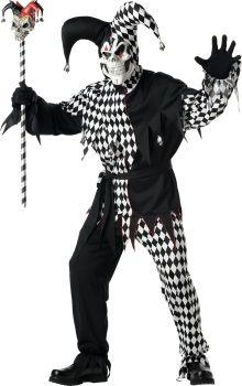 Men's Evil Jester Costume - Adult XL (44 - 46)