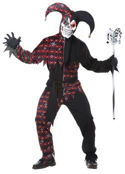 Men's Sinister Jester Costume - Adult L (42 - 44)