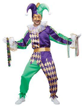 Men's Mardi Gras Jester Costume - Adult L (42 - 44)