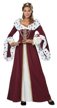 Women's Royal Storybook Queen Costume - Adult S (6 - 8)