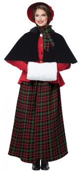 Women's Holiday Caroler Costume - Adult L (10 - 12)