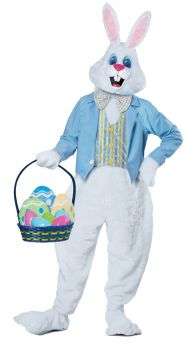 Adult Deluxe Easter Bunny Costume - Adult S/M (38 - 42)