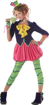Girl's The Mad Hatter Costume - Child XL (12 - 14)