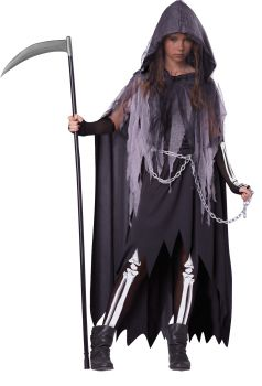Girl's Miss Reaper Costume - Child XL (12 - 14)