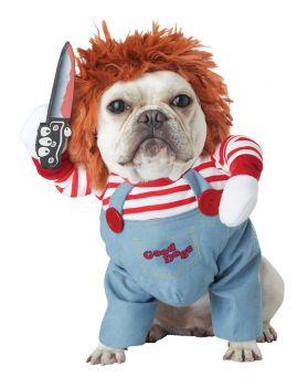 Deadly Doll Dog Costume - Pet Medium