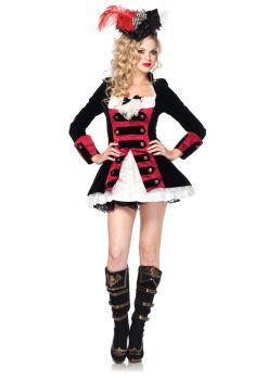 Women's Charming Pirate Captain Costume - Adult Medium
