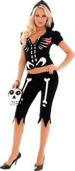 Women's Chloe Bones Glow-in-the-Dark Costume - Adult L (12 - 14)