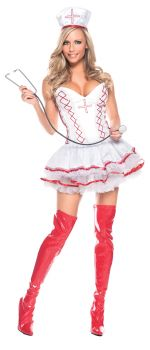 Women's Sexy Home Care Nurse Costume - Adult M/L (8 - 12)