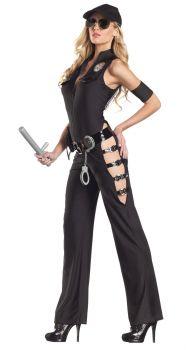 Women's Sexy Midnight Sheriff Costume - Adult M/L (8 - 12)