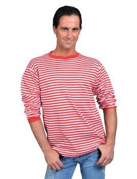 Clown Shirt Red White Adult Lg