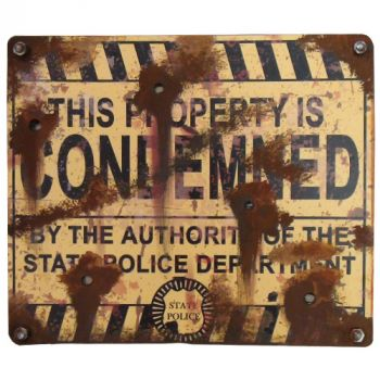 Condemned Sign