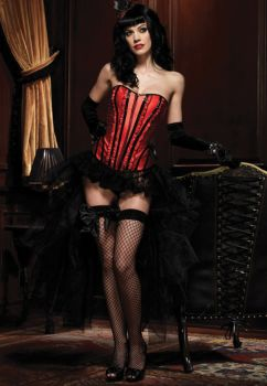 Corset Betty - Black/Red - Adult Large