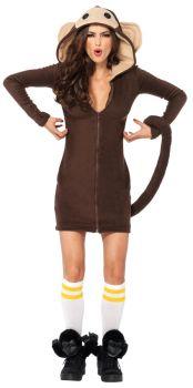 Women's Cozy Monkey Costume - Adult Large