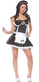 Retro French Maid Costume - Adult S/M (8 - 10)