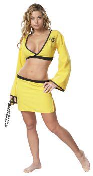 Women's Yellow Naughty Ninja Costume - Adult S (6 - 8)