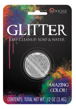 0.1oz Glitter Carded - Silver