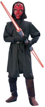 Boy's Deluxe Darth Maul Costume - Star Wars Classic - Child Large