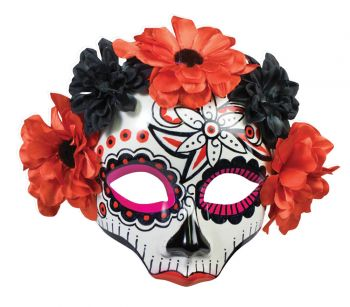 Day Of Dead Skull Female Mask