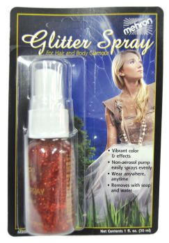 1oz Glitter Spray - Red