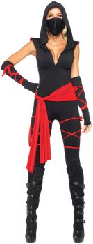 Women's Deadly Ninja Costume - Adult Large