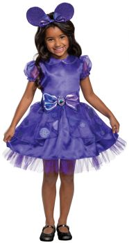 Girl's Minnie Potion Purple Classic Toddler Costume - Child S (4 - 6X)