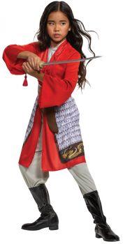 Girl's Mulan Hero Red Dress Classic Costume - Child M (7 - 8)