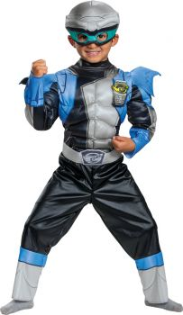 Silver Ranger Muscle Toddler Costume - Beast Morphers