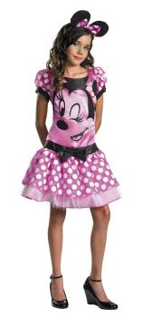 Girl's Minnie Mouse Pink Costume - Child Husky (10.5 - 12.5)