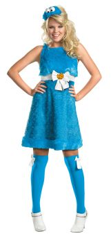 Women's Cookie Monster Sassy Costume - Sesame Street - Adult S (4 - 6)
