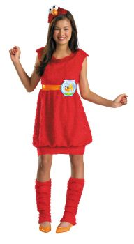 Girl's Elmo Costume - Sesame Street - Child L (10 - 12)