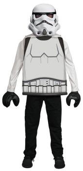 Boy's Stormtrooper LEGO Classic Costume - Child M (7 - 8)