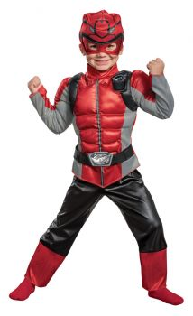 Boy's Red Ranger Muscle Costume - Beast Morphers - Toddler (3 - 4T)