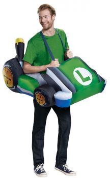 Men's Luigi Kart Inflatable Costume