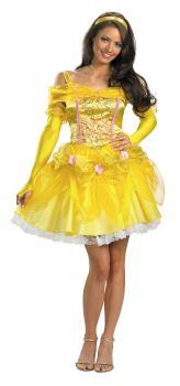 Women's Sassy Belle Deluxe Costume - Beauty & The Beast - Adult S (4 - 6)