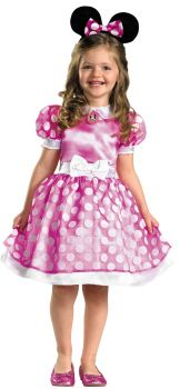 Girl's Pink Minnie Mouse Classic Costume - Child S (4 - 6X)
