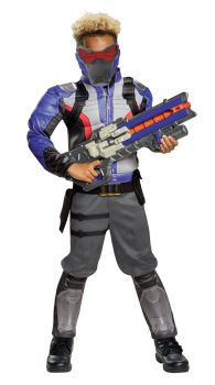 Boy's Soldier: 76 Classic Muscle Costume - Overwatch - Child M (7 - 8)