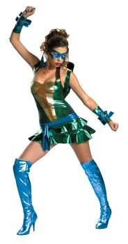 Women's Sassy Leonardo Costume - Ninja Turtles - Adult M (8 - 10)