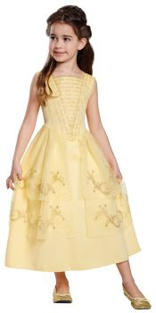 Girl's Belle Ball Gown Classic Costume - Beauty & The Beast Live Action - Child M (7 - 8)