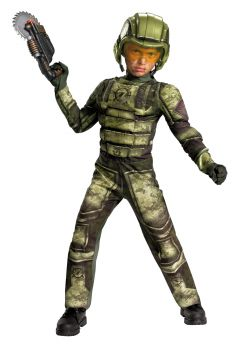 Boy's Foot Soldier Muscle Costume - Operation Rapid Strike - Child M (7 - 8)
