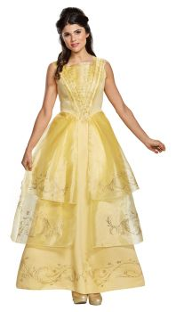 Women's Belle Ball Gown Deluxe Costume - Beauty & The Beast Live Action - Adult L (12 - 14)