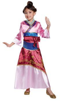 Girl's Mulan Deluxe Costume - Child M (7 - 8)