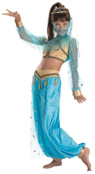 Girl's Mystical Genie Deluxe Costume - Child M (7 - 8)