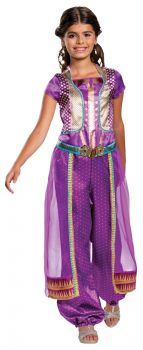 Girl's Jasmine Purple Classic Costume - Aladdin Live Action - Child M (7 - 8)